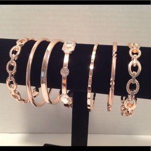 International Concepts - 7 Rose Gold Bracelets